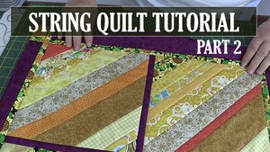 how to make a string quilt, quilting, sewing, craft, strip quilt