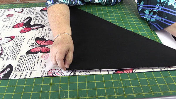 Go To The Other End Of Fabric And Fold Up Form A Triangle Matching Edges
