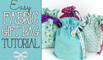 Quick & Easy Drawstring Gift Bag Tutorial
