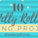 fabric jelly roll projects