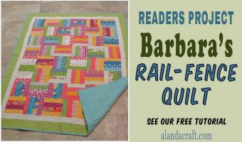 Readers Project:   Barbara's Rail Fence Quilt