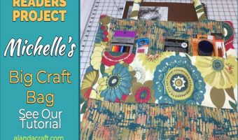 Readers Project: Michelle's Big Craft Tote Bag