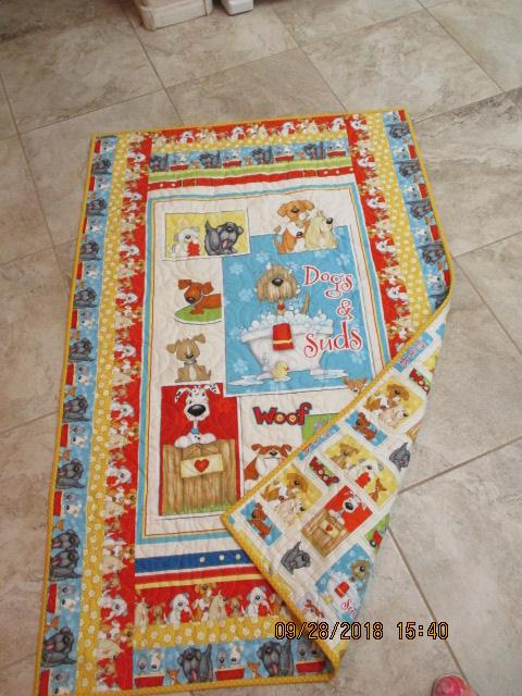 dog panel quilt