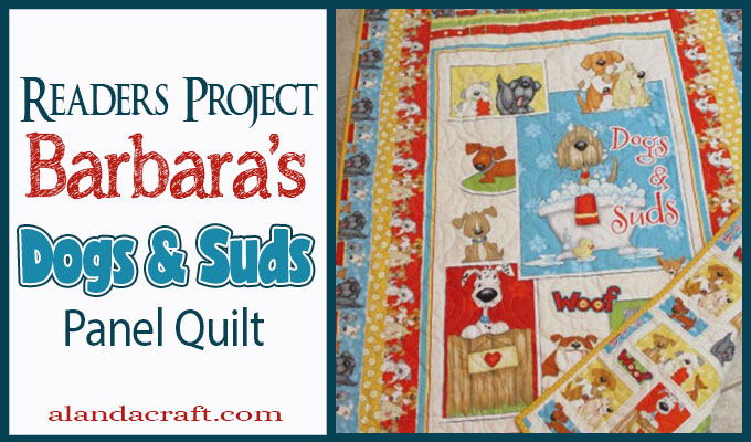 dog-suds-panel-quilt, quilting, craft,sewing, alandacraft.com,readers-project