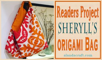 Readers Project: Sheryll's Vibrant Origami Bag