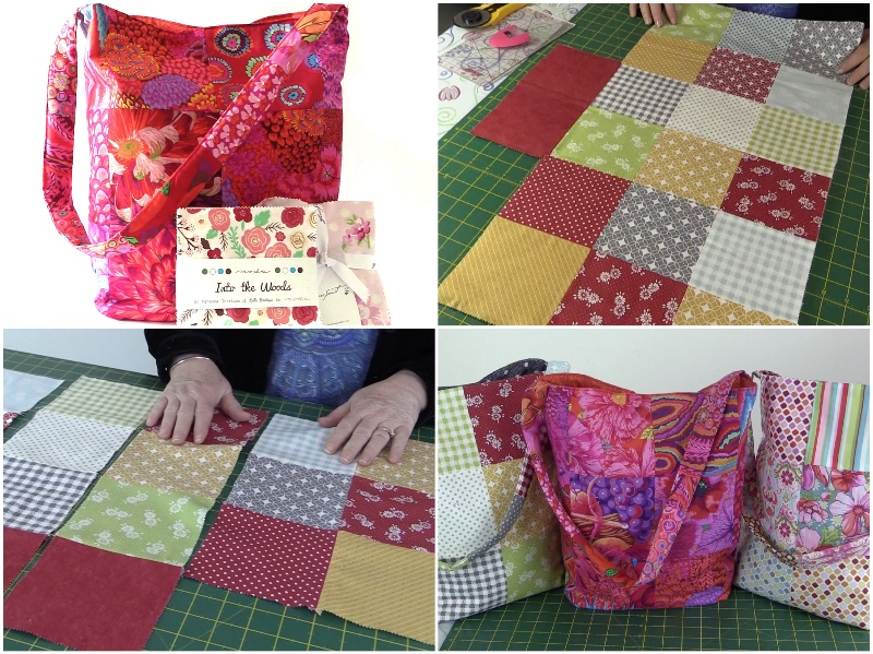 charm-square-tote-bag, tote-bag, charm-square-tote-bag,diy,quilting, sewing, fabric-scraps, www.alandacraft.com