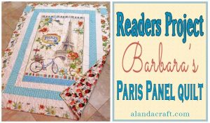 Paris-Quilt-Panel-Quilt,quilting, readers-project, craft, sewing, diy, www.alandacraft.com