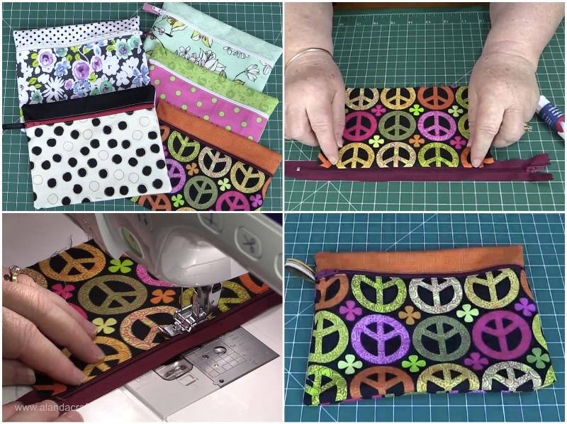 zippered-pouch, craft,diy,quilting, sewing, fabric-scraps, www.alandacraft.com