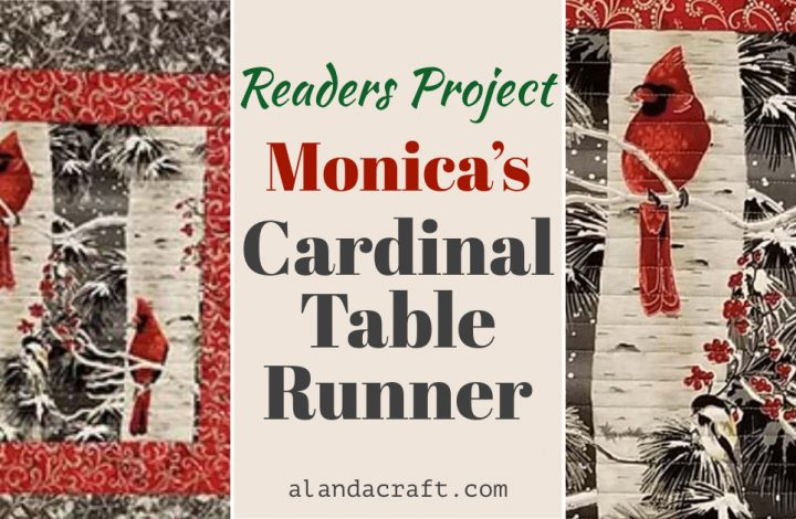 cardinal-table-runner.quilting, sewing, alandacraft.com,craft,diy