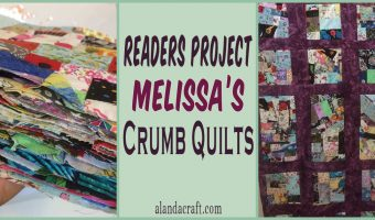 readers project, quilting, crumb quilting, craft, alandacraft.com, sewing