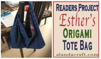 diy, origami tote bag, tutorial, readers project