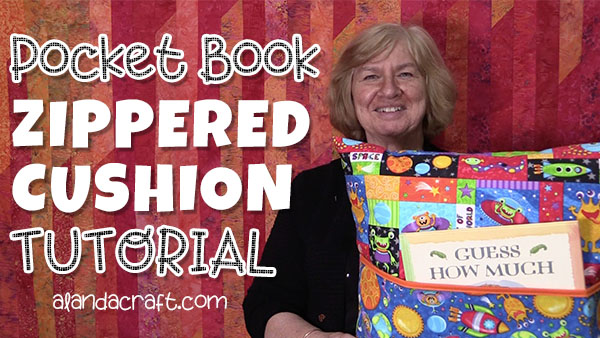 pocket book cushion cover tutorial