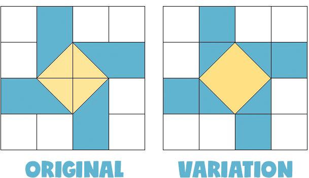 susannah quilt block variation