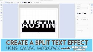 canvas workspace text - split text
