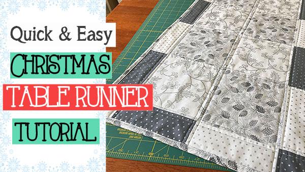 easy christmas table runner tutorial