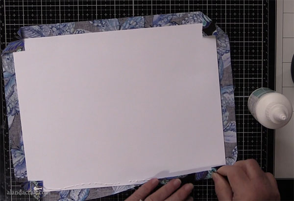 fabric journal tutorial
