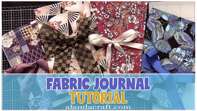 fabric journal tutorial