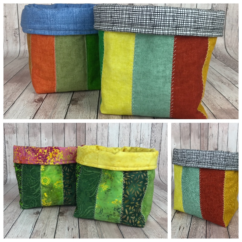 easy fabric basket tutorial